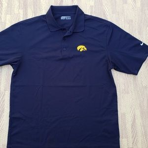 Iowa Hawkeyes Nike Golf FitDry Black Polo Shirt